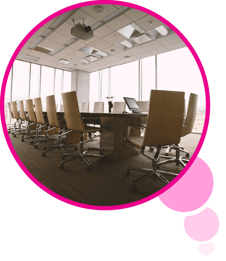 Salle de réunion dans une bulle